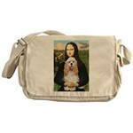 Mona Lisa / Cocker Spaniel Messenger Bag