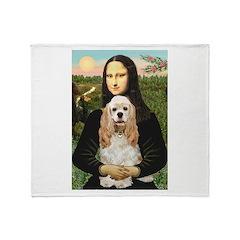 Mona Lisa / Cocker Spaniel Throw Blanket