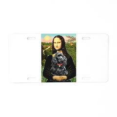 Mona's Black Cocker Spaniel Aluminum License Plate