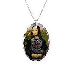 Mona's Black Cocker Spaniel Necklace