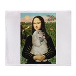Mona Lisa /Cocker Spaniel Throw Blanket