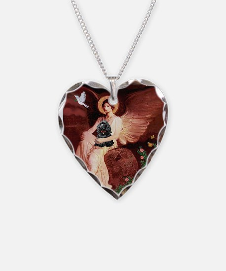 Angel / Cocker Necklace Heart Charm