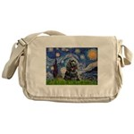 Starry Night / Black Cocke Messenger Bag