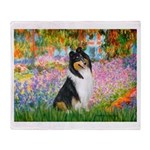 Garden / Collie Throw Blanket