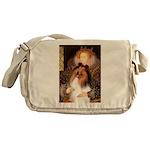 Queen / Collie (tri) Messenger Bag