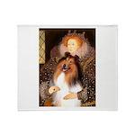 Queen / Collie (tri) Throw Blanket