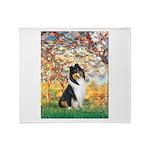 Spring / Collie Throw Blanket