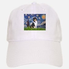 Starry Night / Collie (tri) Baseball Baseball Cap