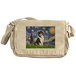 Starry Night / Collie (tri) Messenger Bag
