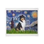 Starry Night / Collie (tri) Throw Blanket