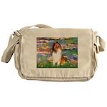 Lilies (2)/Collie (1S) Messenger Bag