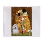 The Kiss / Coton Throw Blanket