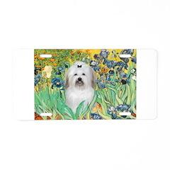 Irises / Coton Aluminum License Plate