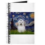 Starry Night Coton de Tulear Journal