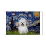 Starry Night Coton de Tulear 20x12 Wall Decal