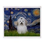 Starry Night Coton de Tulear Throw Blanket
