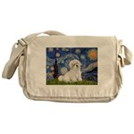 Starry / Coton de Tulear (#7) Messenger Bag