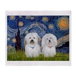 Starry / Coton Pair Throw Blanket