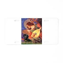 Mandolin Angel & Doxie (BT) Aluminum License Plate