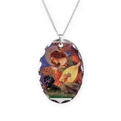 Mandolin Angel & Doxie (BT) Necklace Oval Charm