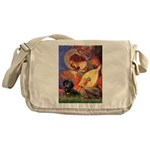 Mandolin Angel & Doxie (BT) Messenger Bag