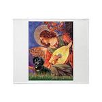 Mandolin Angel & Doxie (BT) Throw Blanket