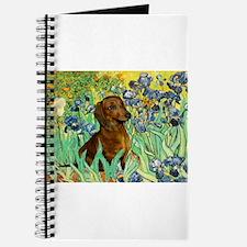 Irises & Dachshund Journal