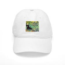 Irises & Dachshund (BT4) Baseball Cap