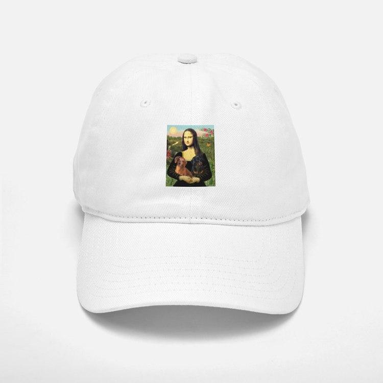 Mona Lisa's Dachshunds Baseball Baseball Cap