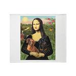 Mona Lisa's Dachshunds Throw Blanket
