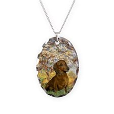 Spring / Dachshund Necklace Oval Charm