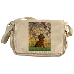 Spring / Dachshund Messenger Bag