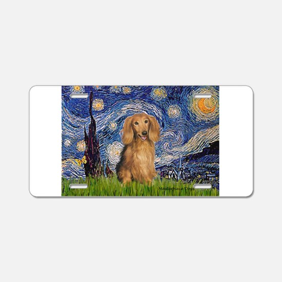 Starry / Doxie (LH-Sable) Aluminum License Plate