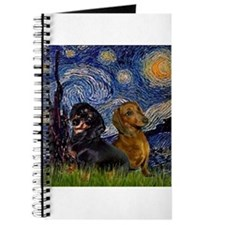 Starry Night Doxie Pair Journal