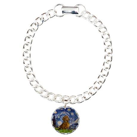 Starry / Dachshund Charm Bracelet, One Charm