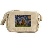 Starry / Dachshund Messenger Bag