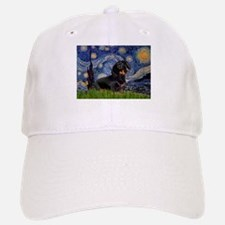 Starry Night Dachshund Baseball Baseball Cap
