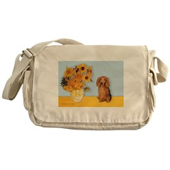 Sunflowers - Doxie (LH,S) Messenger Bag