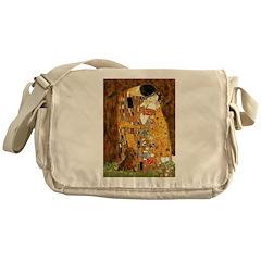 Kiss / Dachshund Messenger Bag