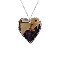 Whistler's /Dachshund(LH-Sabl) Necklace Heart Char