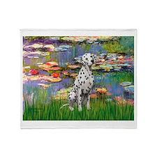 Lilies/ Dalmatian #1 Throw Blanket