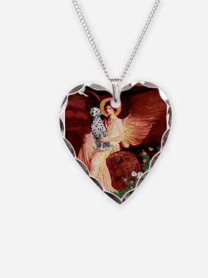 Angel / Dalmatian #1 Necklace Heart Charm