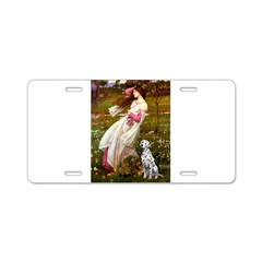 Windflowers / Dalmatian #1 Aluminum License Plate