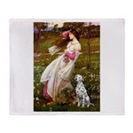 Windflowers / Dalmatian #1 Throw Blanket