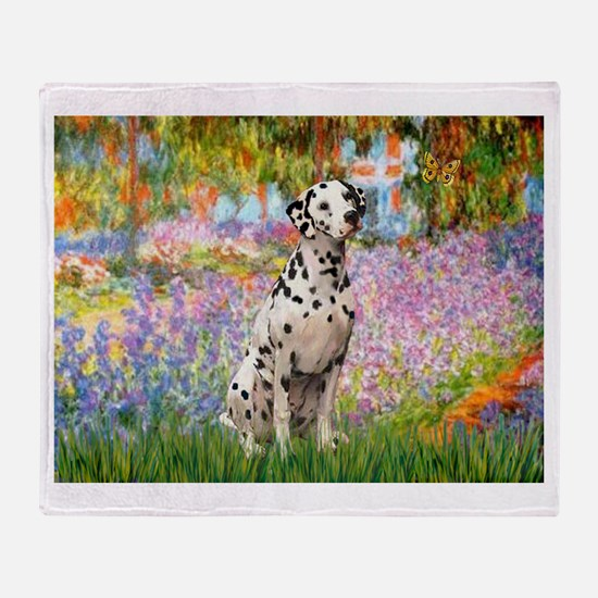 Garden / Dalmation Throw Blanket