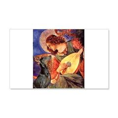 Mandolin Angel & Dobie 20x12 Wall Decal