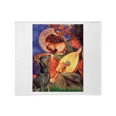 Mandolin Angel & Dobie Throw Blanket