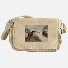 Creation / 2 Dobies Messenger Bag