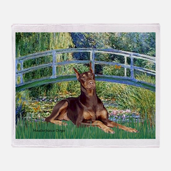 Bridge / Doberman Throw Blanket
