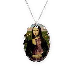 Mona's Red Doberman Necklace